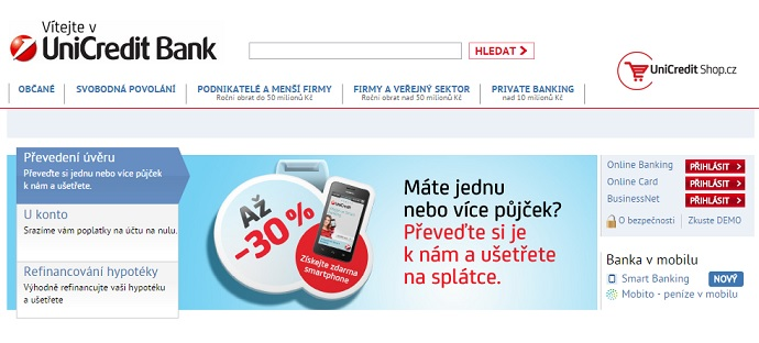 UniCreditBank web